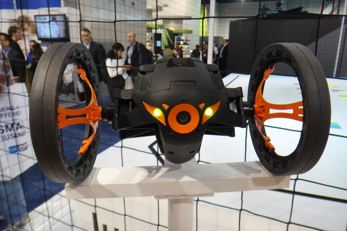 Parrot has made two high-flying additions to its robotic lineup: the MiniDrone and the Jumping Sumo (pictured)