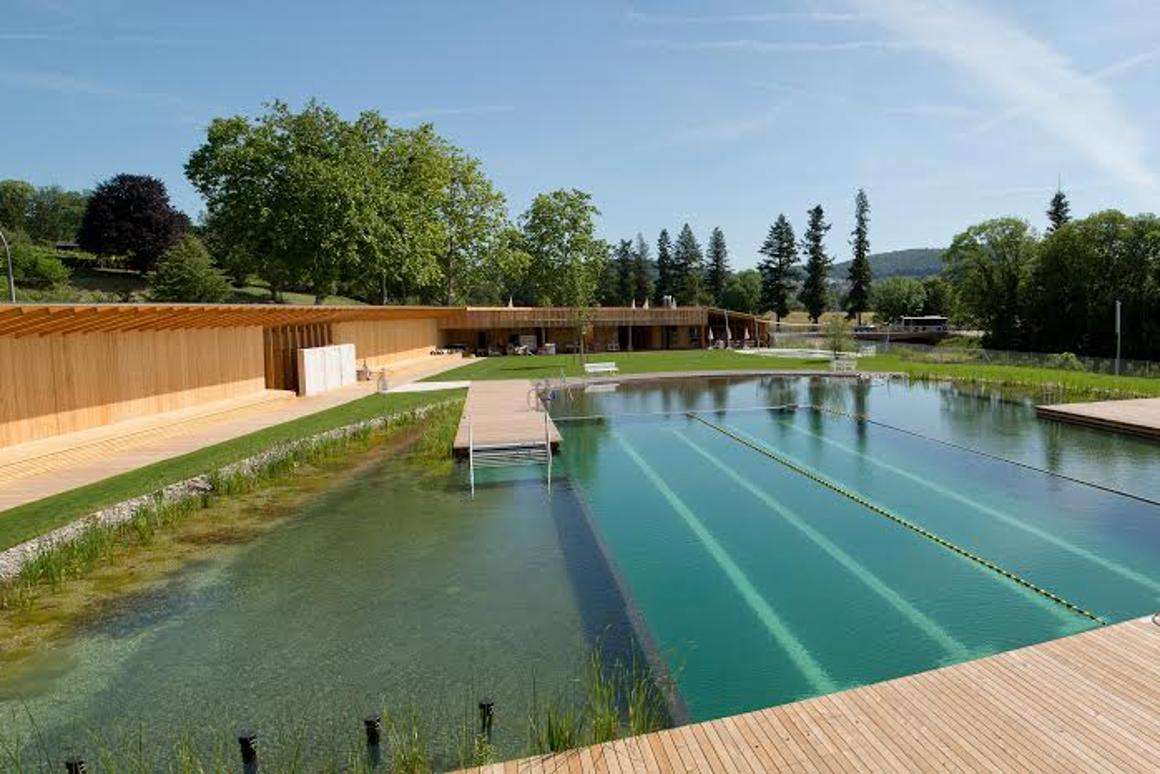 The Naturbad Riehen swimming pool is entirely chemical-free (Photo: Helen Schneider)