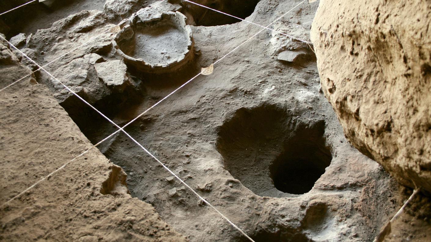 Trench and pit where the shoe was found