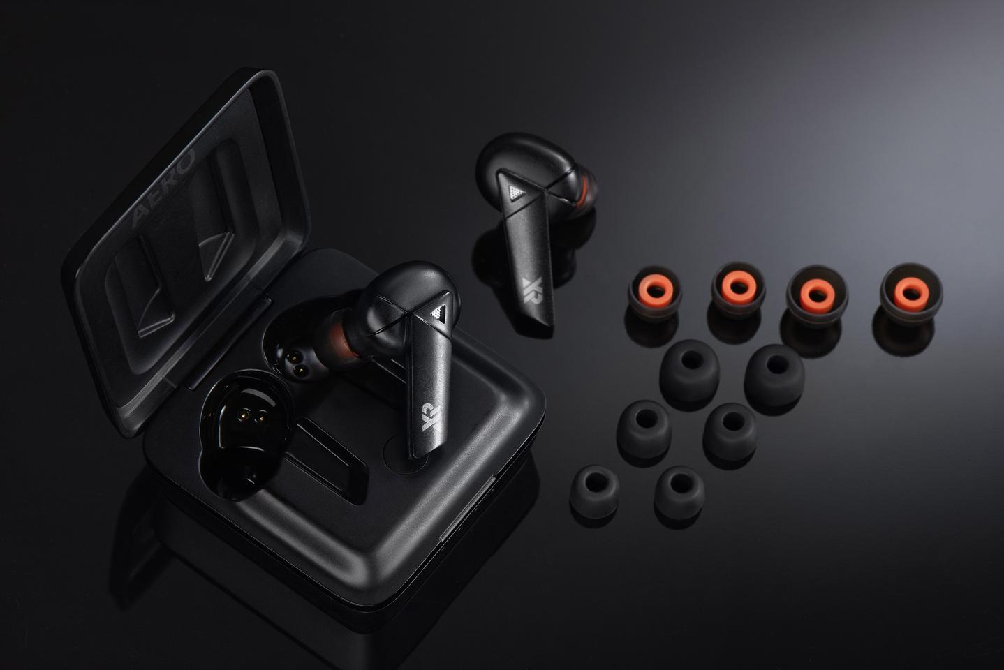 The Aeros come with six different ear tip options