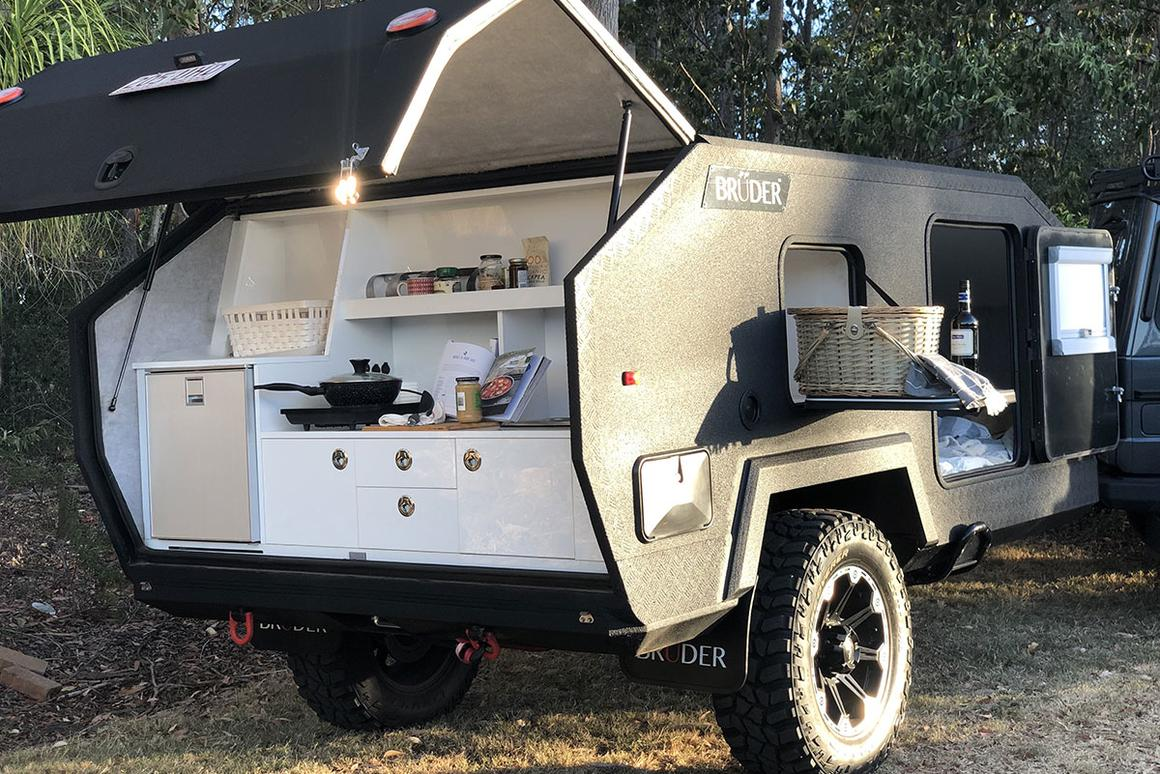 Bruder EXP-4 camping trailer marries cinder block toughness