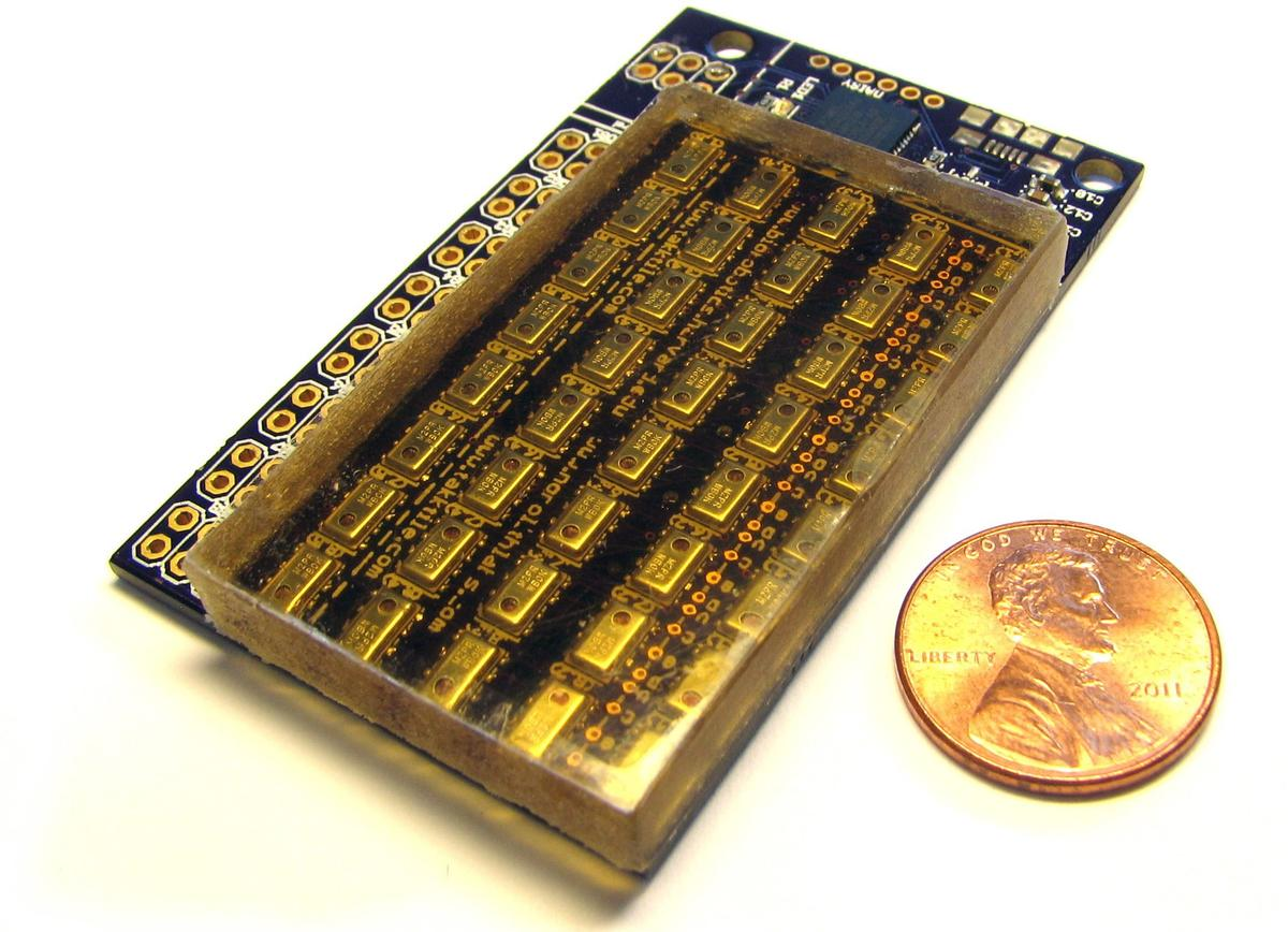 TakkTile is an inexpensive tactile sensor that incorporates a conventional MEMS barometer