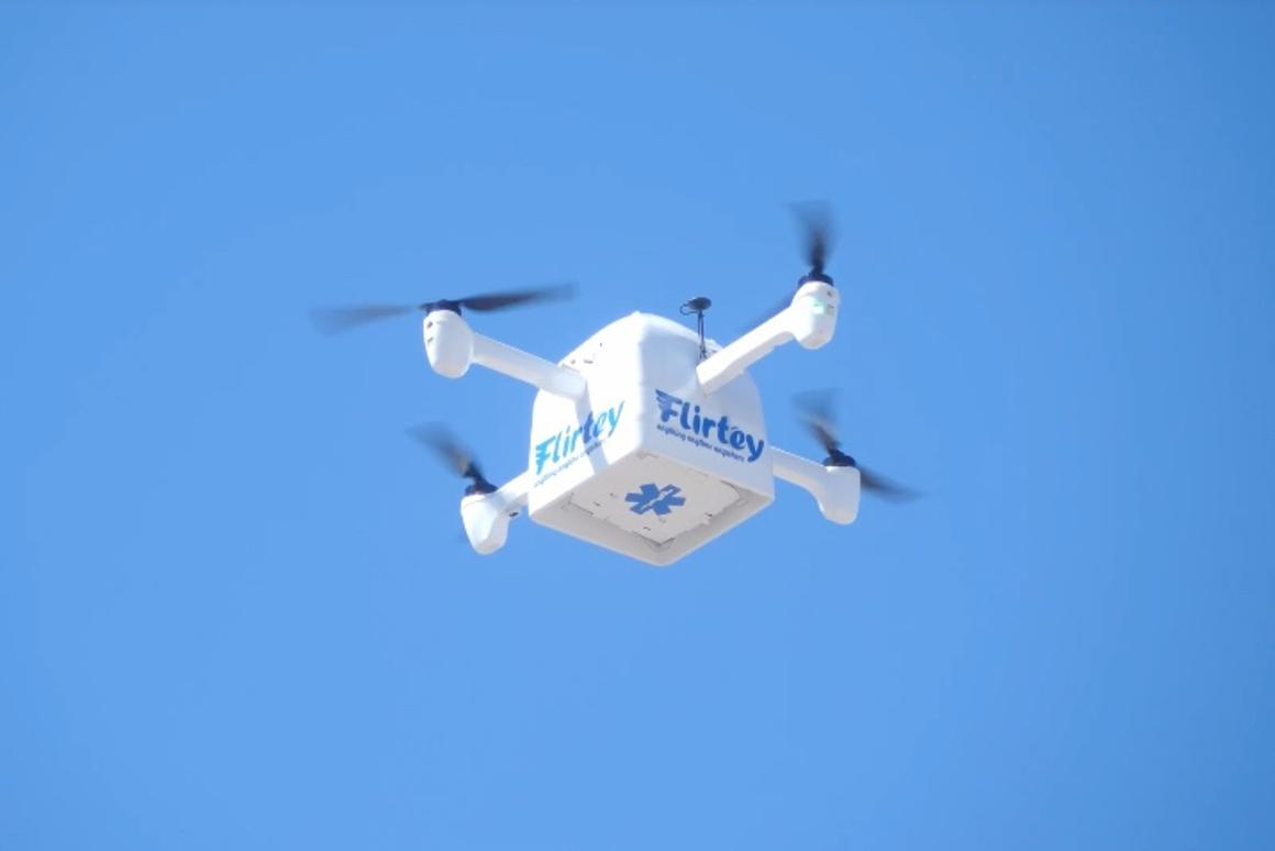 Along with retail goods, the Flirtey Eagle could also be used to deliver emergency medical supplies