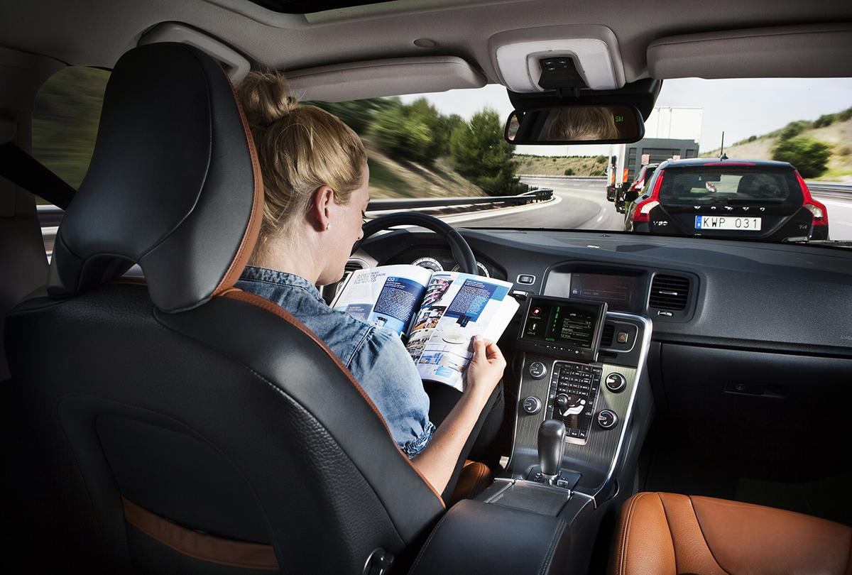 Autonomous driving would allow drivers to relax on trips (Image: Volvo)