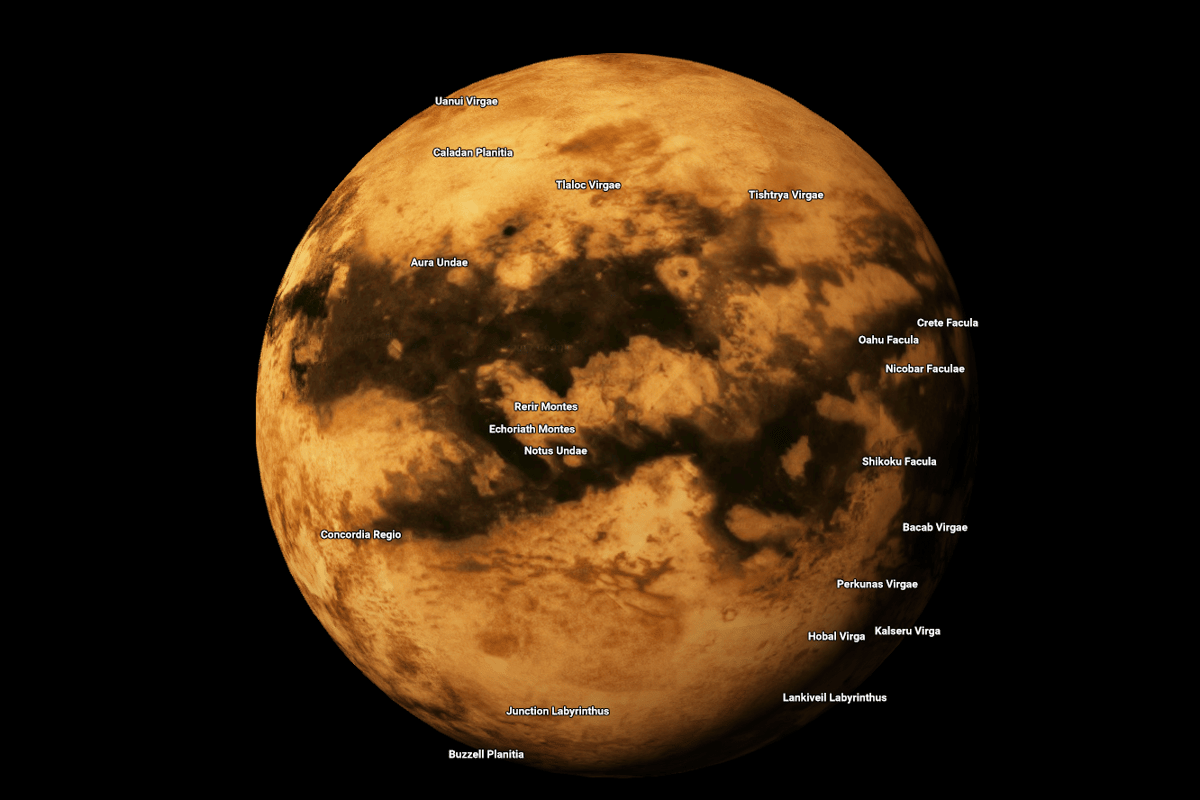 Google Maps has expanded to a range of other planets and moons in our Solar System, including Saturn's moon Titan