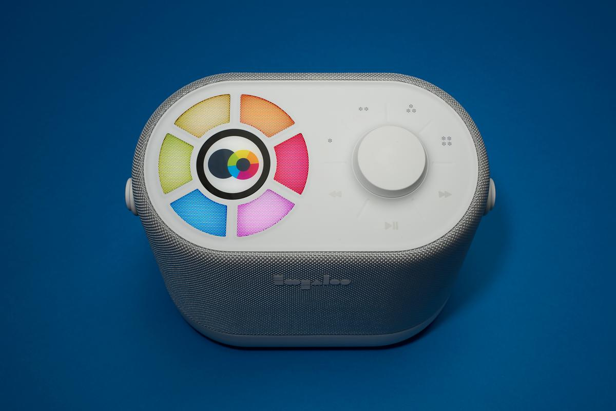 The Ellodee Sound Companion is a kid-friendly audio-focused console for music and stories