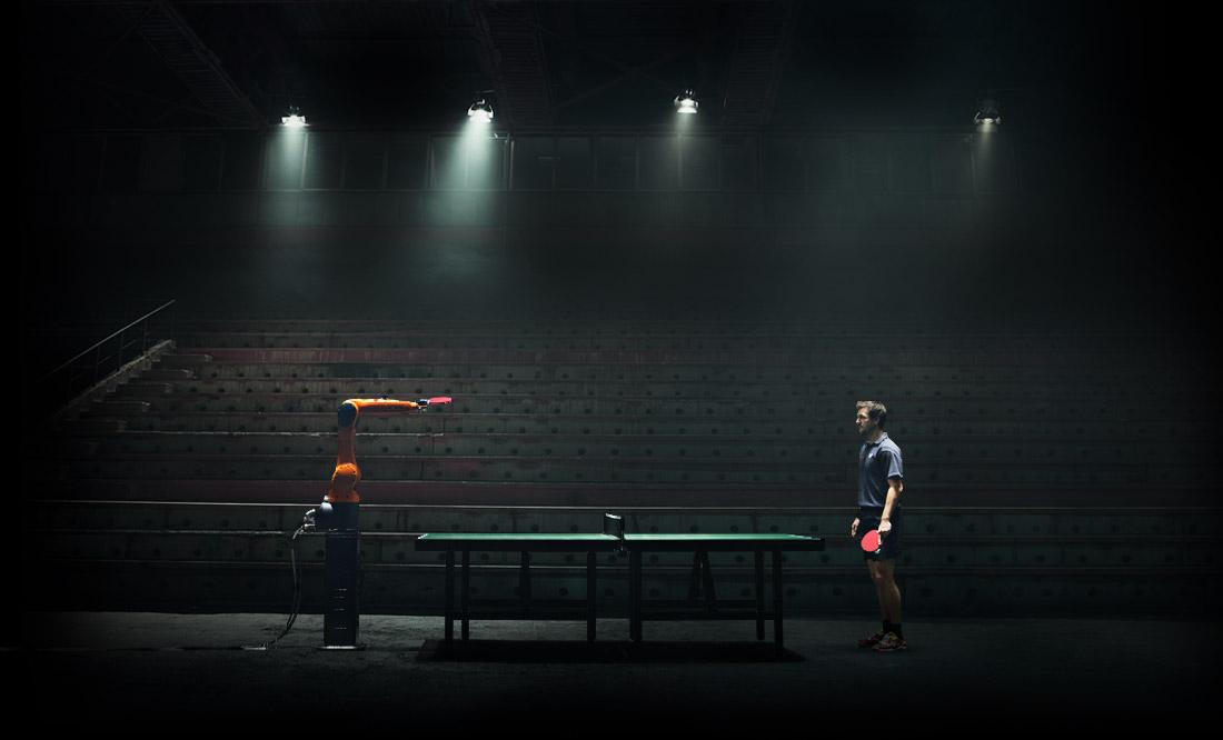 Table tennis player Timo Boll will face a Kuka robot opponent for a showdown on March 11