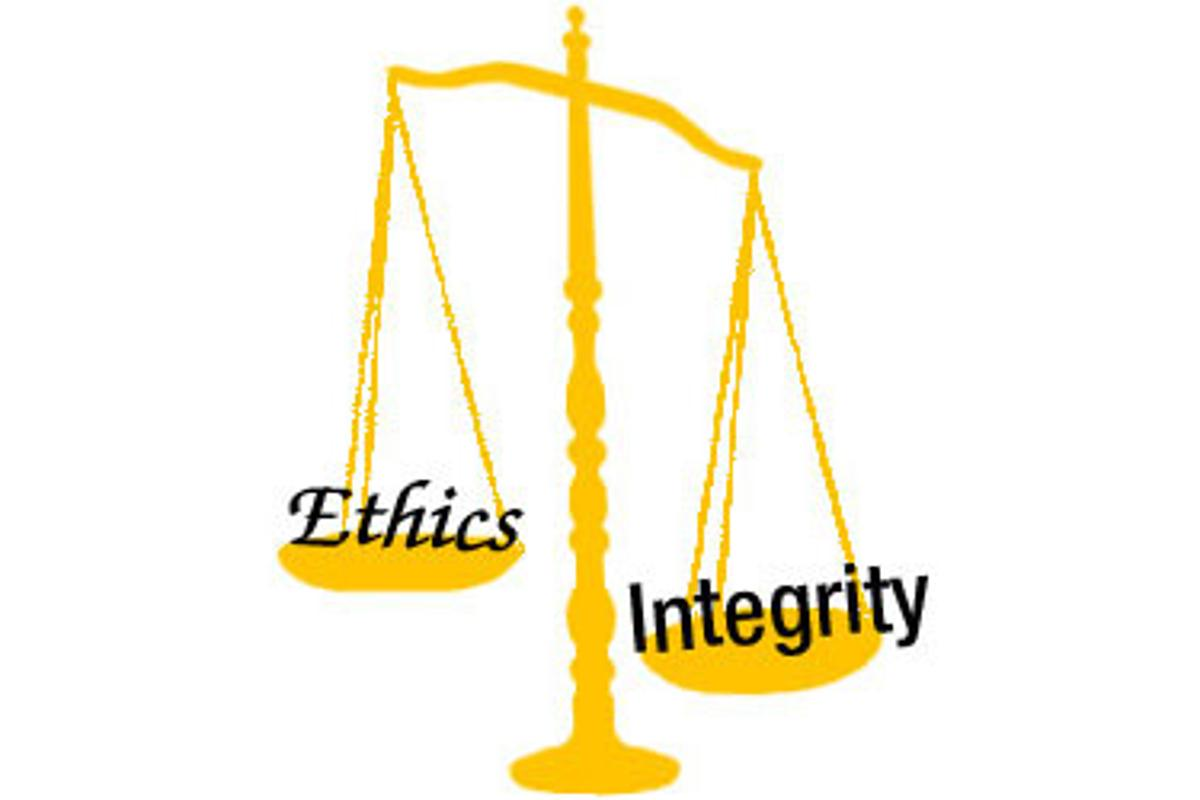 People see ethics as getting away with whatever they can while still staying within the rules while integrity comes from individuals (Image: Zoomstart)