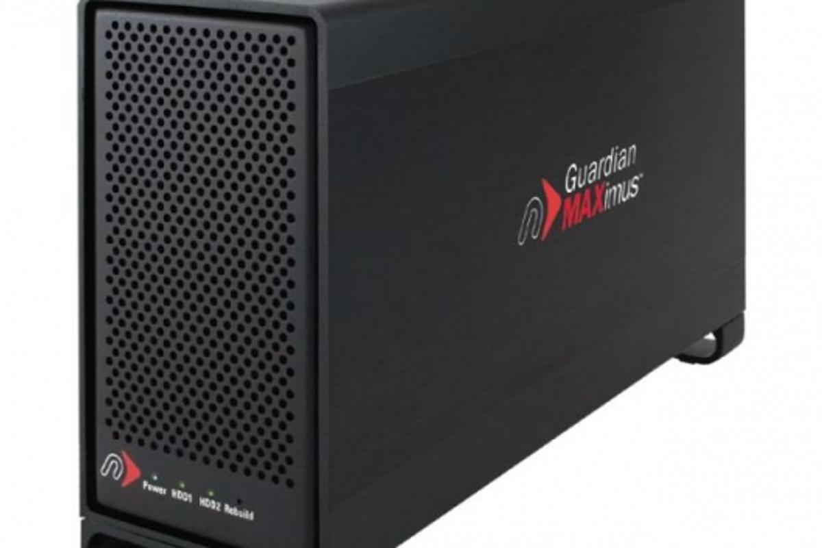 Newertech's Guardian MAXimus RAID back-up system - plug and play through FireWire or USB.