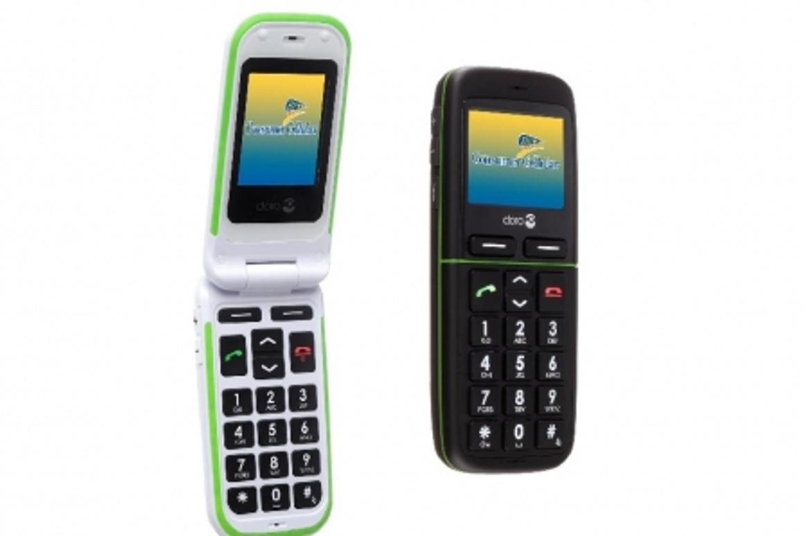 Doro PhoneEasy 345 and 410, ideal for seniors, are now offered by Consumer Cellular (Photo: Business Wire)