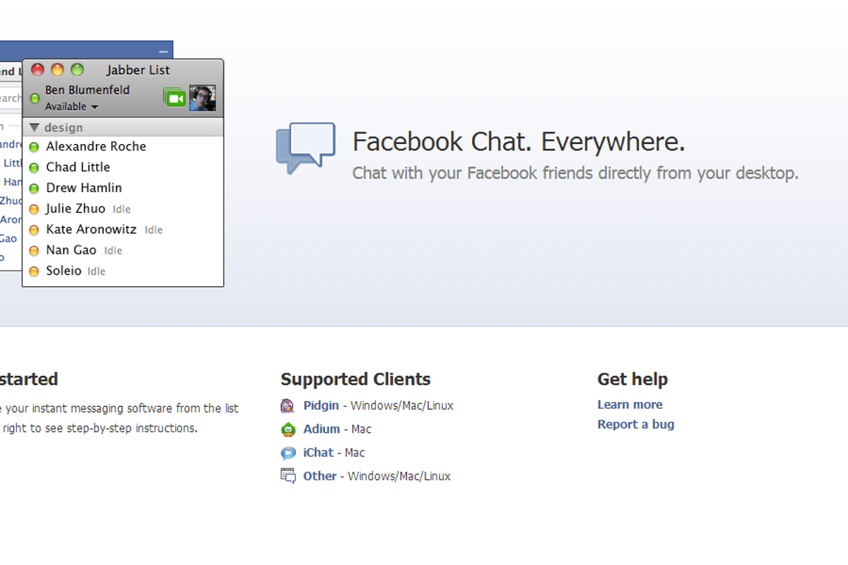 Facebook Messenger for desktop has been discontinued, but users can still connect to Facebook Chat via third-party apps
