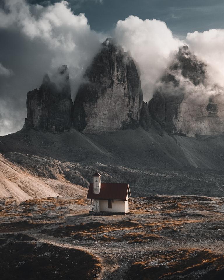 'Tre Cime'. Tre Cime, Dolomites, Italy
