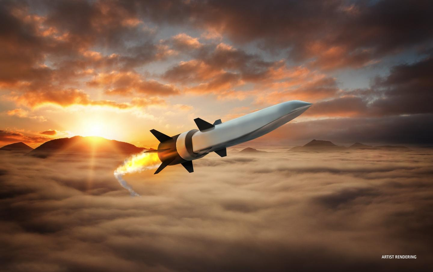 Artist's concept of an air breathing hypersonic missile