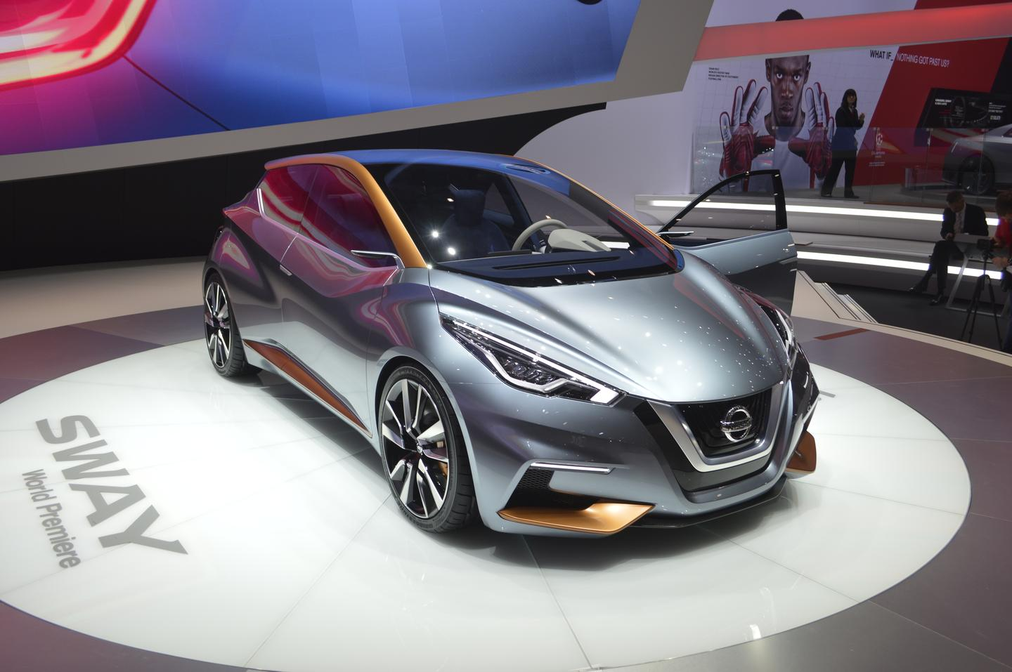 The Nissan Sway is a new compact hatchback concept (Photo: C.C. Weiss/Gizmag)