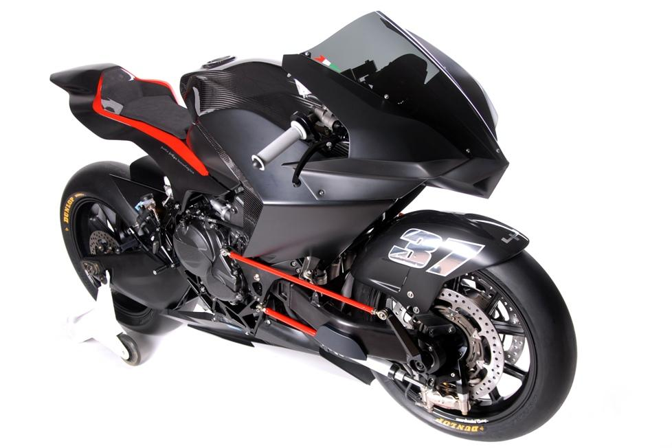 The Vyrus 986 M2 Factory - a hub-center steered racebike aimed squarely at Moto2 competition.