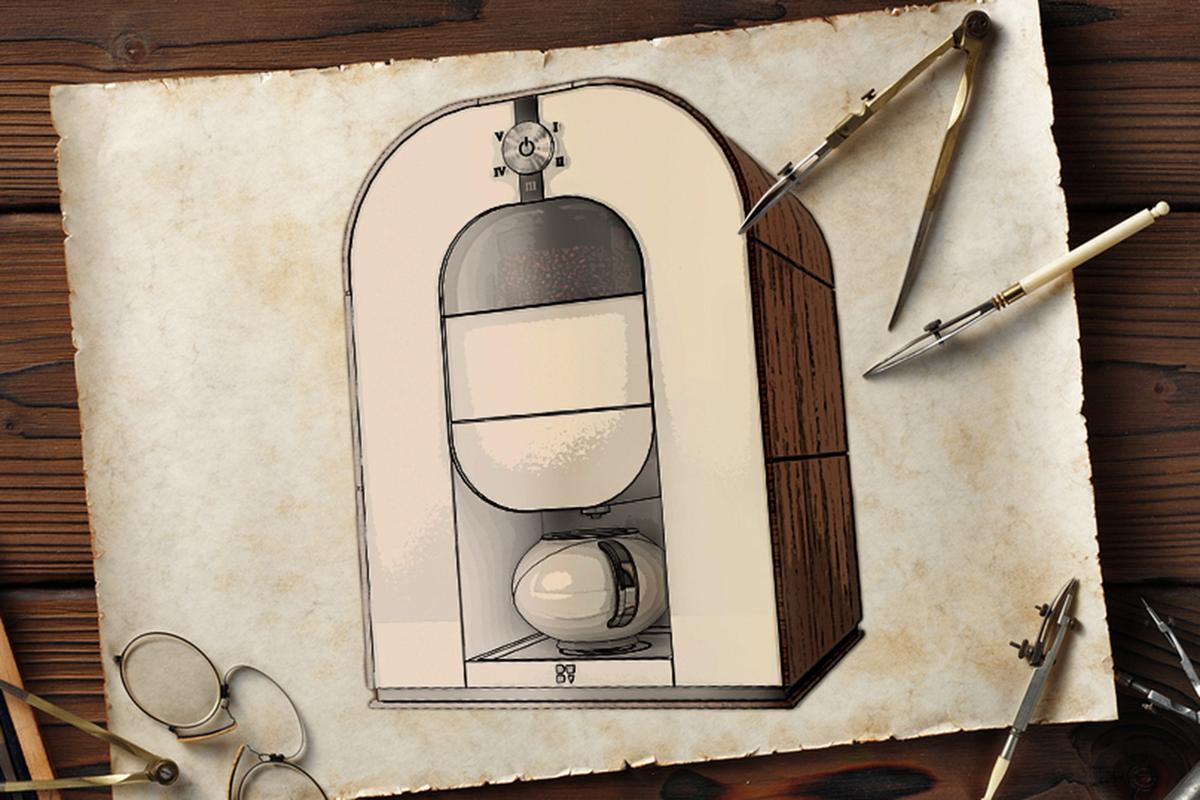 The Bonaverde machine roasts, grinds and brews coffee