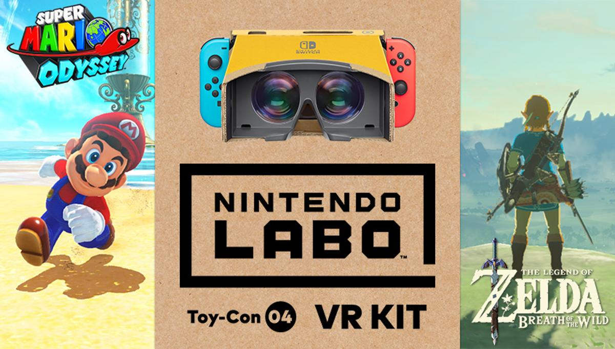 Nintendo has announced thatSuper Mario OdysseyandThe Legend of Zelda: Breath of the Wildwill get updates to make them compatible with the Labo VR Kit