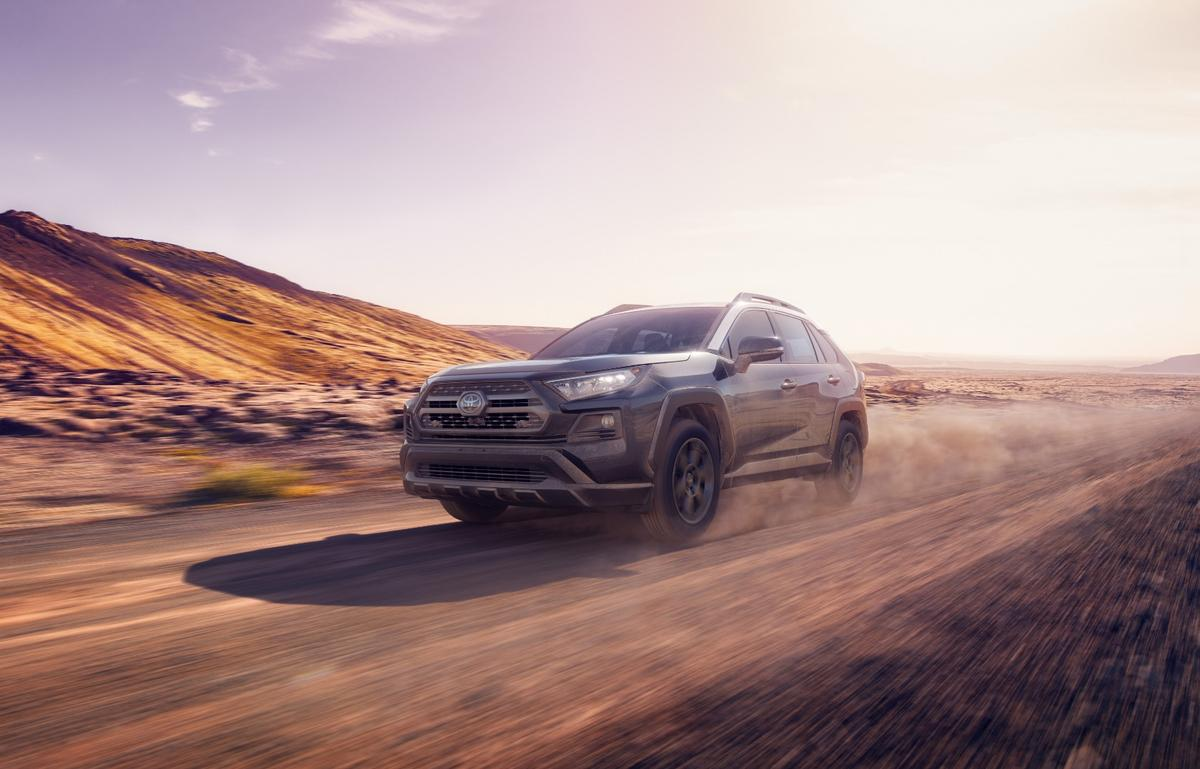 The new Toyota Racing Development (TRD) version of the RAV4 builds on the RAV4 Adventure model by adding what Toyota has learned through its rallycross racing team