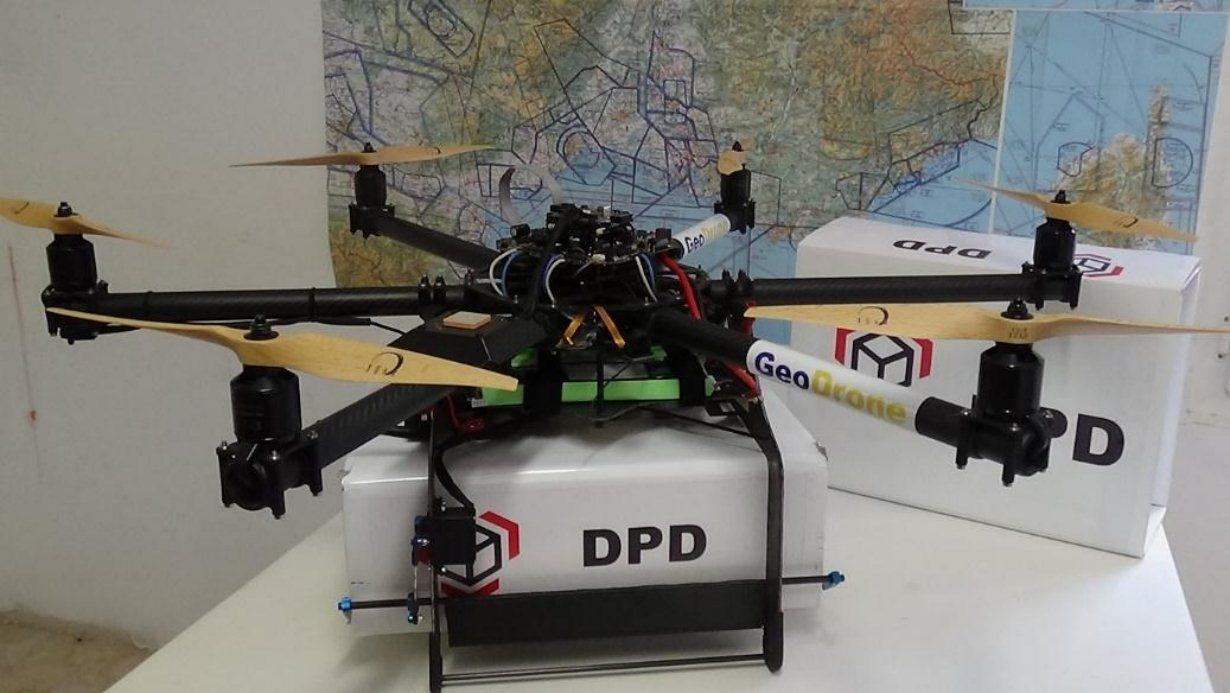 The electric delivery drone has been developed to autonomously transport a parcel up to dimensions of 40 x 30 x 20 cm (16 x 12 x 8 in) and 4 kg (9 lb) in weight within a 20 km (12 mile) radius (Photo: Philippe Cassan)