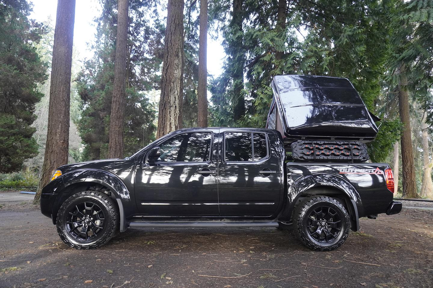 Caravan Outfitter combines a new 4x4 pickup, rooftop tent, bed rack and other equipment into a compelling overlander it calls the Outpost