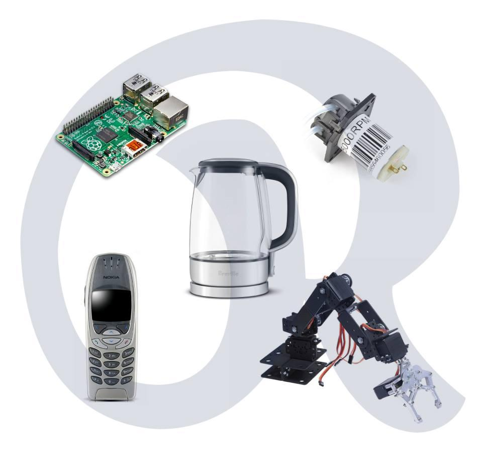 The r2-Tea2 automatic tea maker was constructed using easy to find components and able to text chat with an old Nokia phone