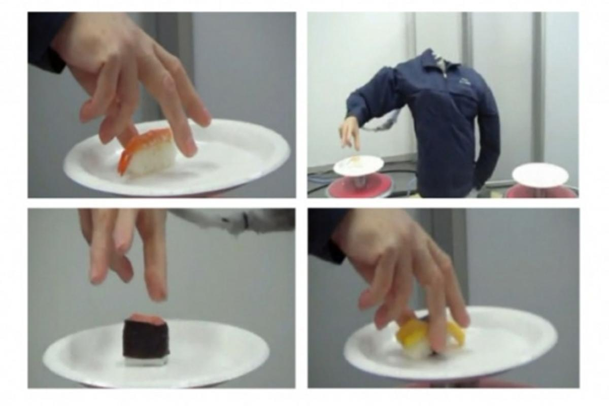 The Squse robotic hand serves up some sushi