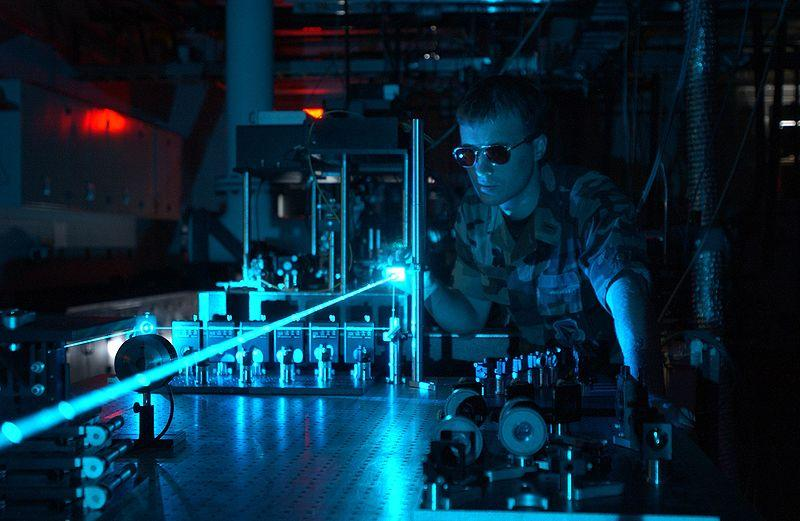 Lasers have long been used for military applications, as in this US Air Force test, now they are being used to control weeds in agriculture (Photo: US Air Force)