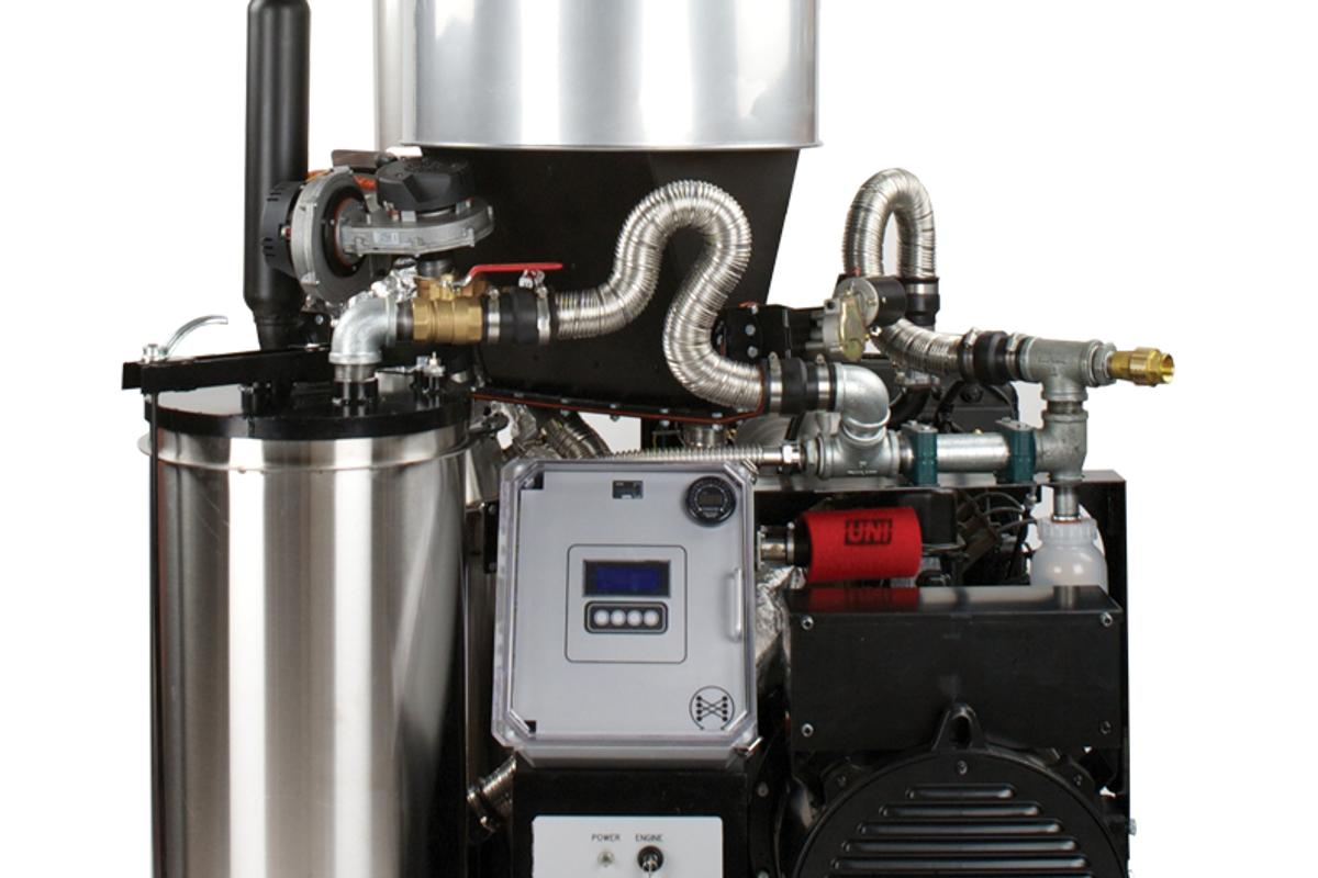The Power Pallet is a combination gasification unit and electrical generator