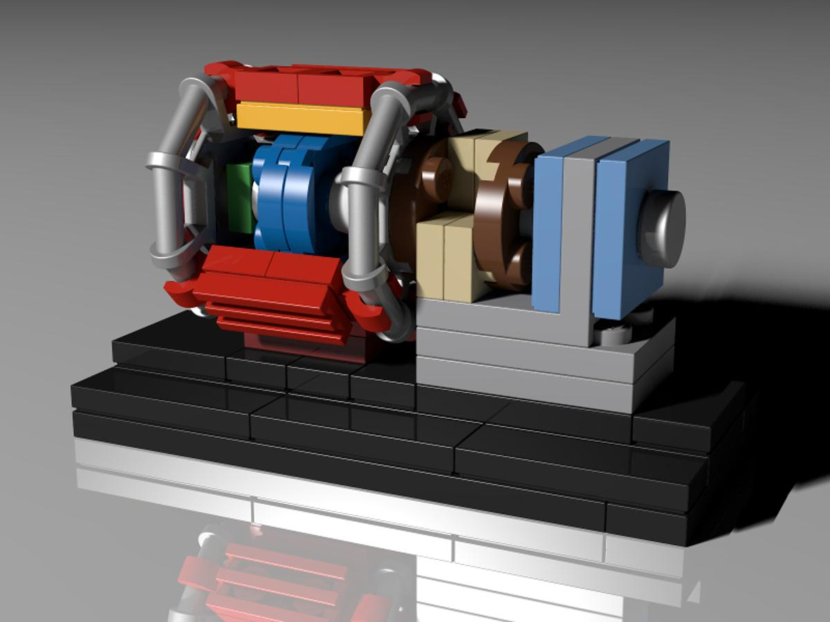 A PhD student working at CERN has had his LEGO proposal for an LHC  LEGO kit pass the 10,000 supporter mark , meaning that it will be considered for possible official production
