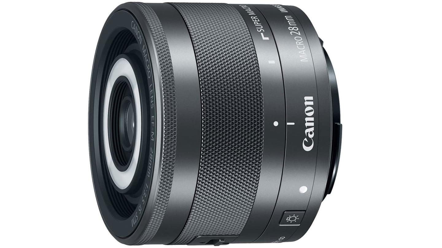 Canon's new EF-M 28mm f/3.5 Macro IS STM lens has built-in flash units to illuminate close up subjects