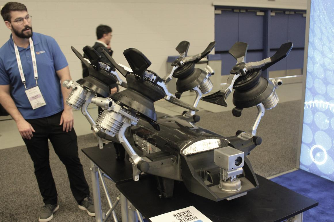 The LineRanger robot, on display at ICRA 2019