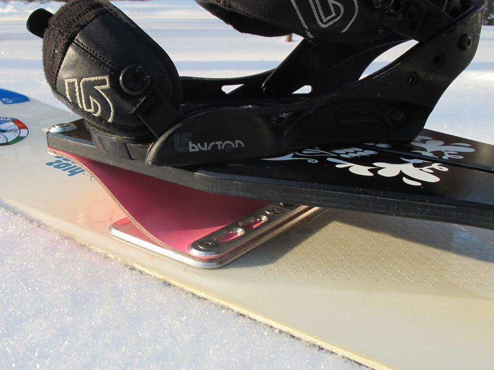 The SANKIboard's leaf shocks are made from carbon fiber-reinforced fiberglass