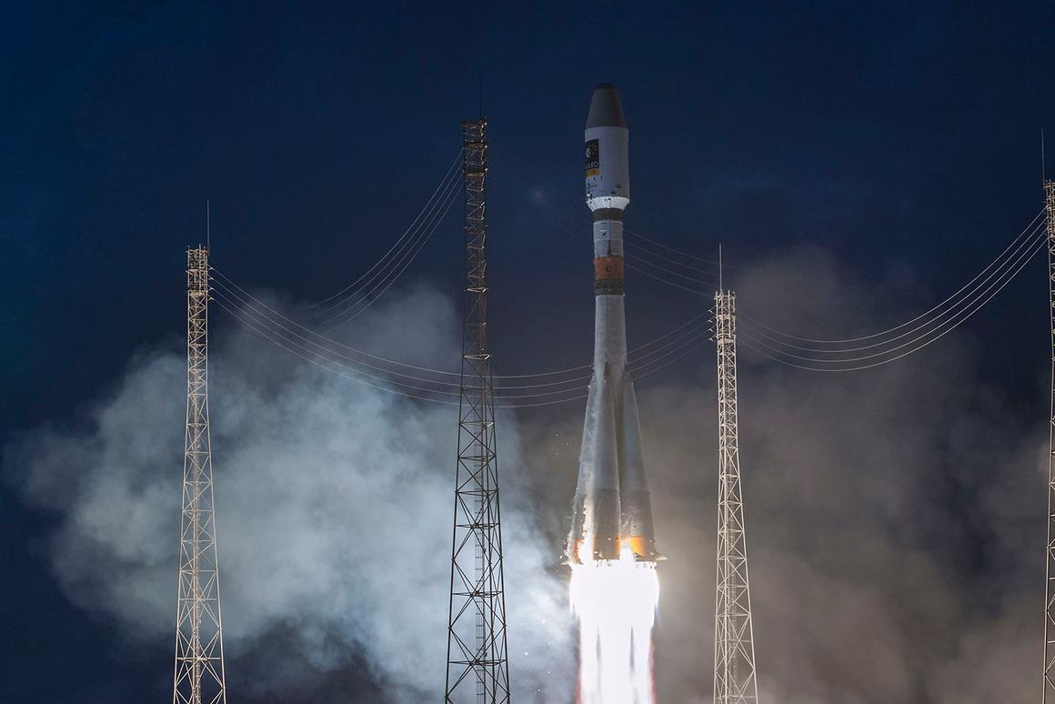 The latest Galileo satellites were launched on March 27 aboard a Soyuz rocket (Photo: ESA/CNES/ARIANESPACE-Service Optique CSG, S. Martin)