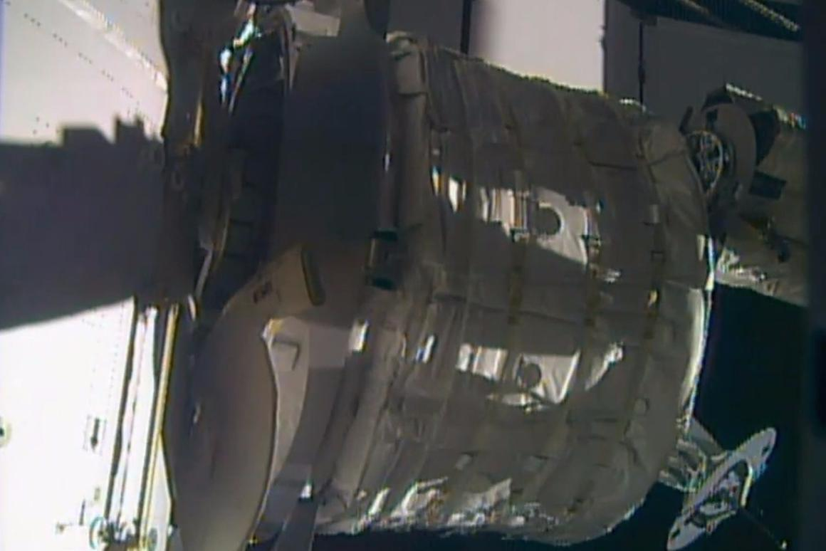 The Bigelow Expandable Activity Module, or BEAM, is attached to the International Space Station