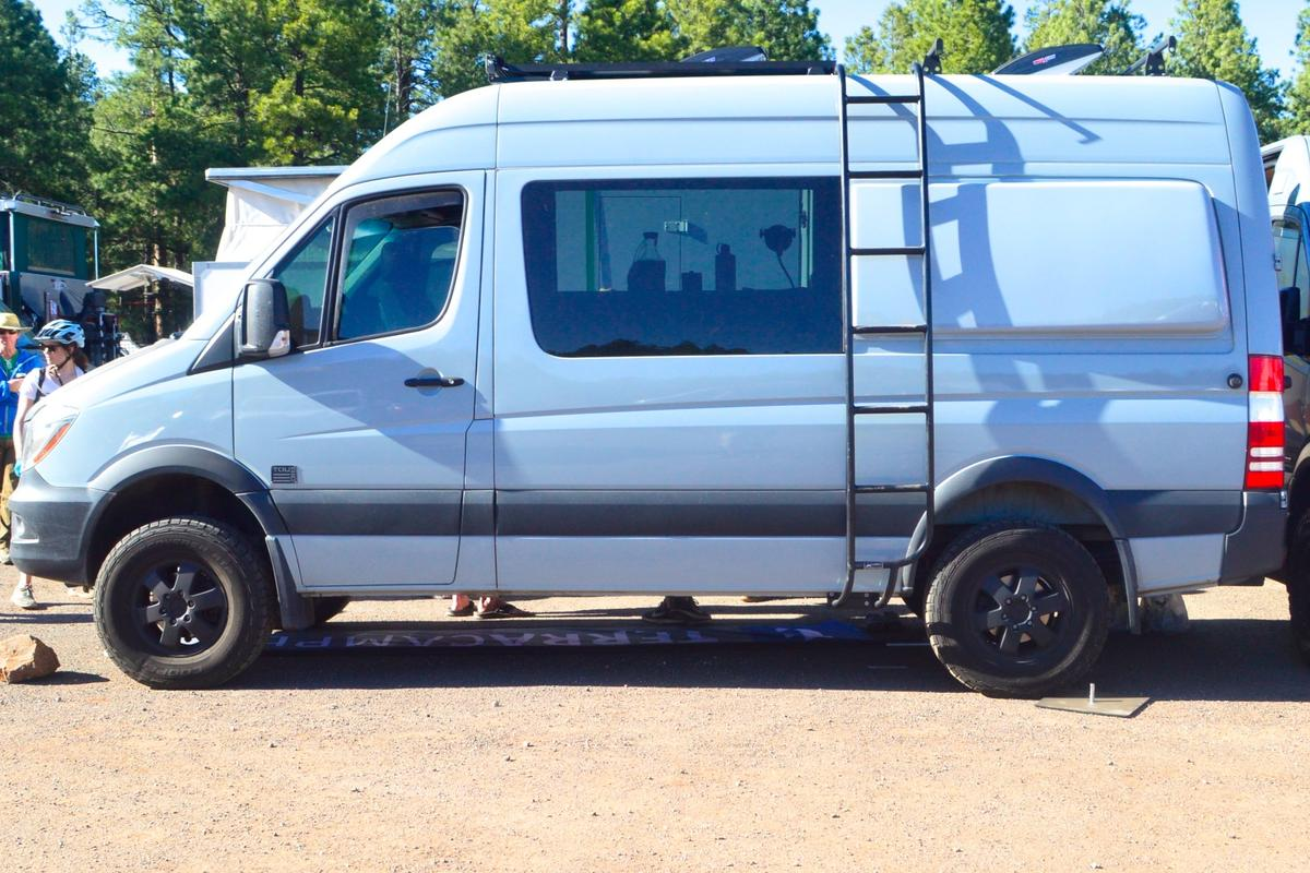 TouRig Terracamper Mercedes Sprinter on show at Overland Expo West 2017