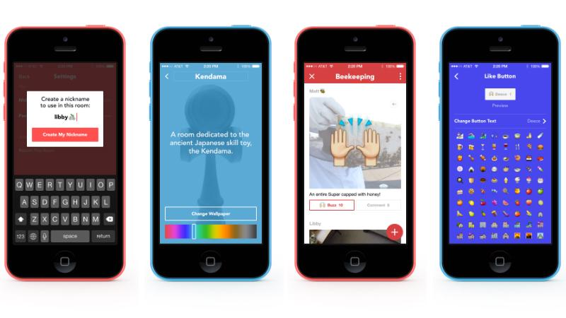 Facebook Rooms allows users to have anonymous conversations about topics of interest
