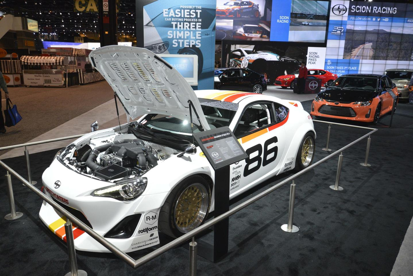 Shown here at the Chicago Auto Show, the Speedhunters Maximum Attack Scion FR-S debuted at last year's SEMA Show