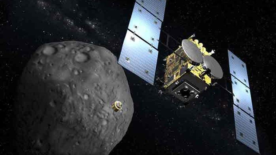 Artists impression of theHayabusa 2 probe, whichlaunched for the asteroid Ryugu in 2014