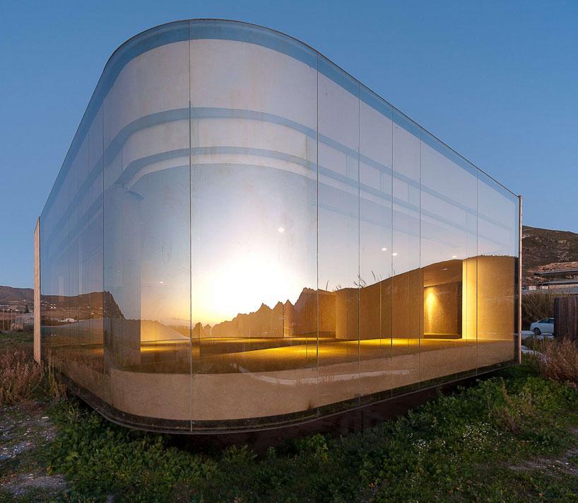 The Non Program Pavilion maintains very little impact on its terrain
