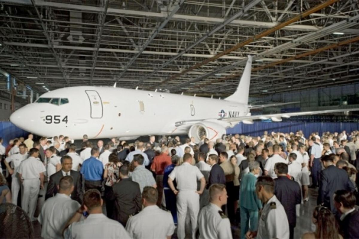 P-8A Poseidon formally unveiled (Boeing photo by Jim Anderson)