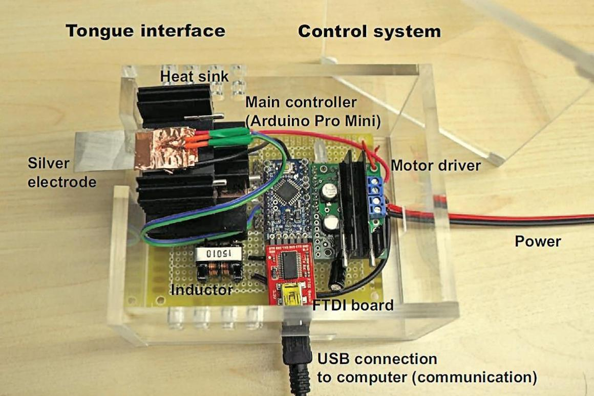 The tongue interface and control system assembly (Photo: National University of Singapore)