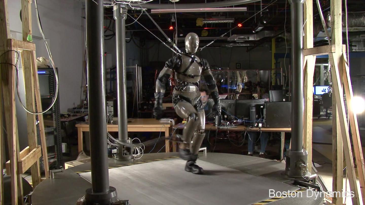 Boston Dynamics' PETMAN is a humanoid robot designed to test chemical protection suits for the U.S. military