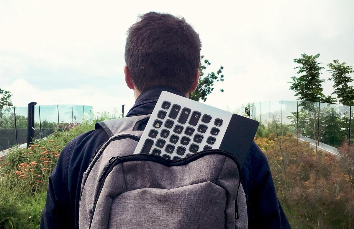 The Nemeio keyboard measures304 x 179 x 11 mm and weighs 600 g