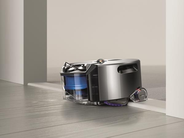 The Dyson 360 Eye is a robot vacuum cleaner that uses a panoramic camera to see its surrounding environment
