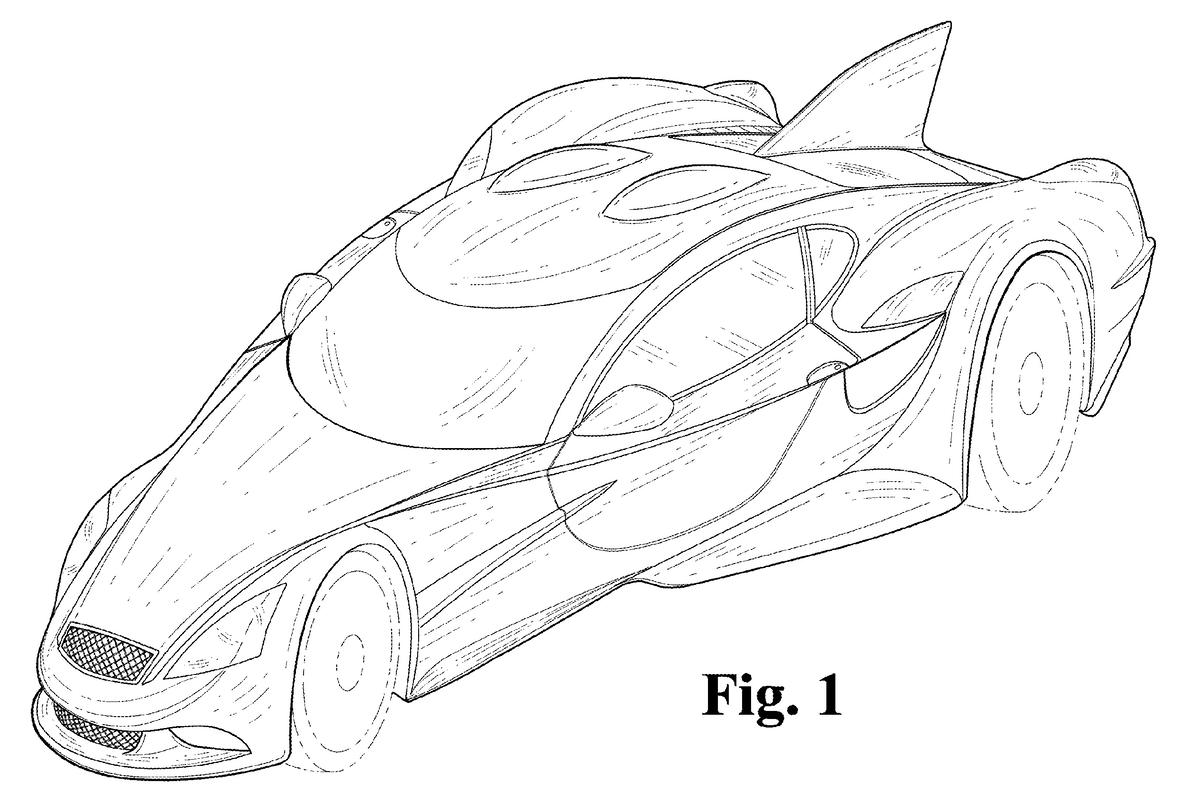 An early glimpse of the likely appearance of Donald Panoz's radical road-going supercar