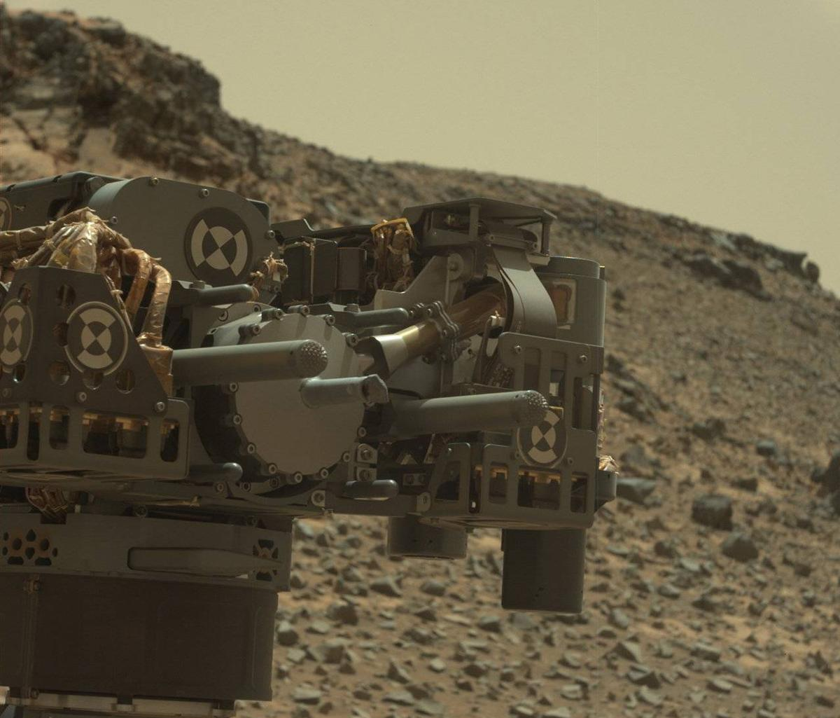 NASA says that the short occurred during operations with Curiosity's drill assembly (Image: NASA/JPL-Caltech/MSSS)