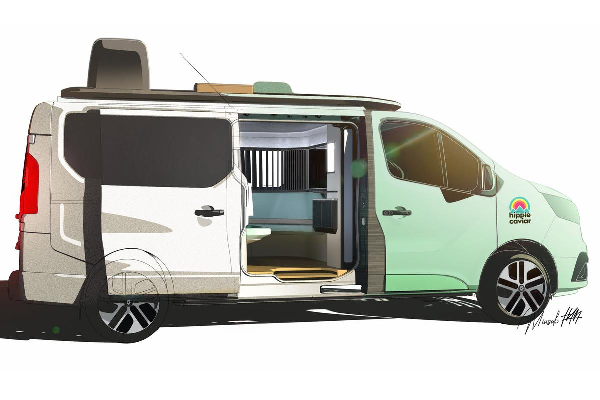 Renault previews a clean two-room design with sun terrace