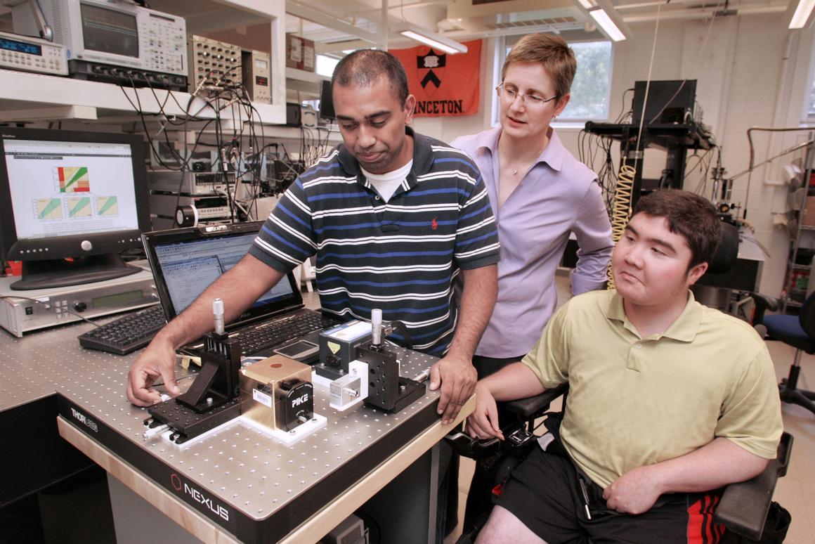 A new system developed at Princeton University allows diabetics to check blood glucose levels without a finger-prick test (Photo: Frank Wojciechowski)
