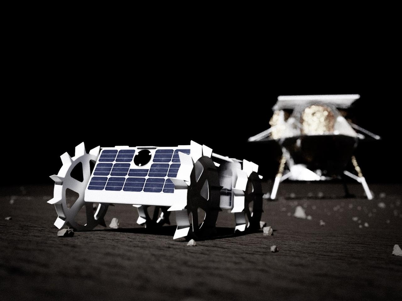 A model of the CMU lunar rover