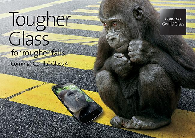 Gorilla Glass 4 is optimized to survive being dropped on the road or sidewalk